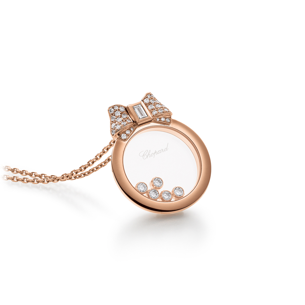 Chopard Collier Roségold Happy Diamonds