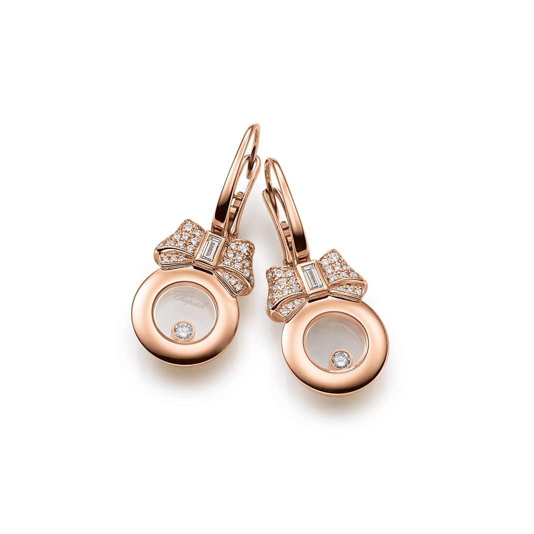 Chopard Ohrschmuck Roségold Happy Diamonds