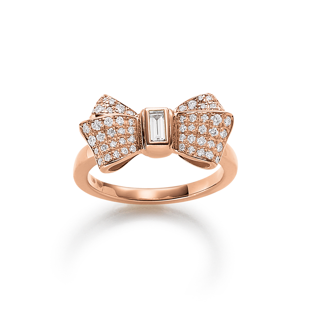 Chopard Damenring Roségold Happy Diamonds