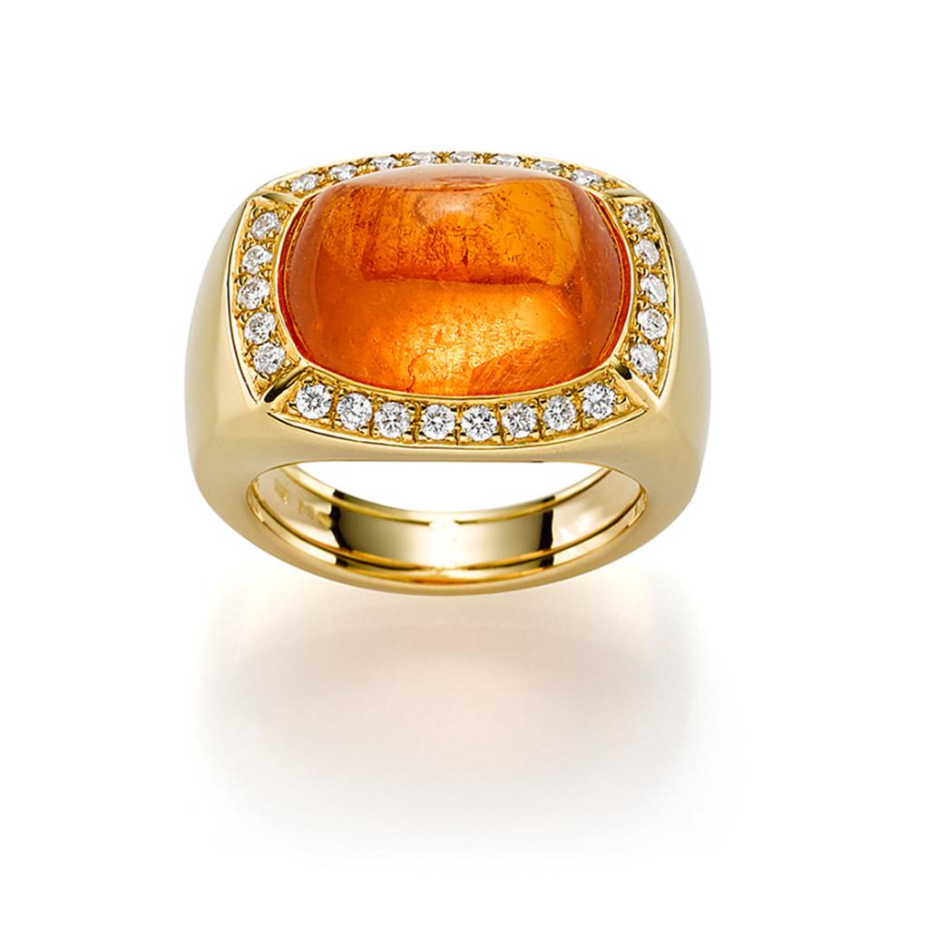 Cascade Damenring Gelbgold