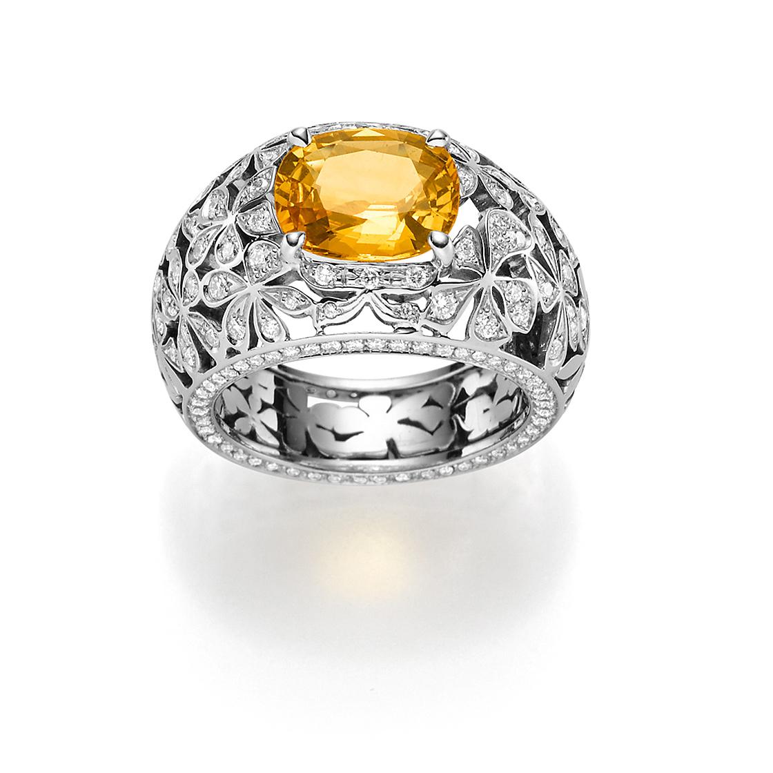 Fleur d'amour Damenring Weißgold