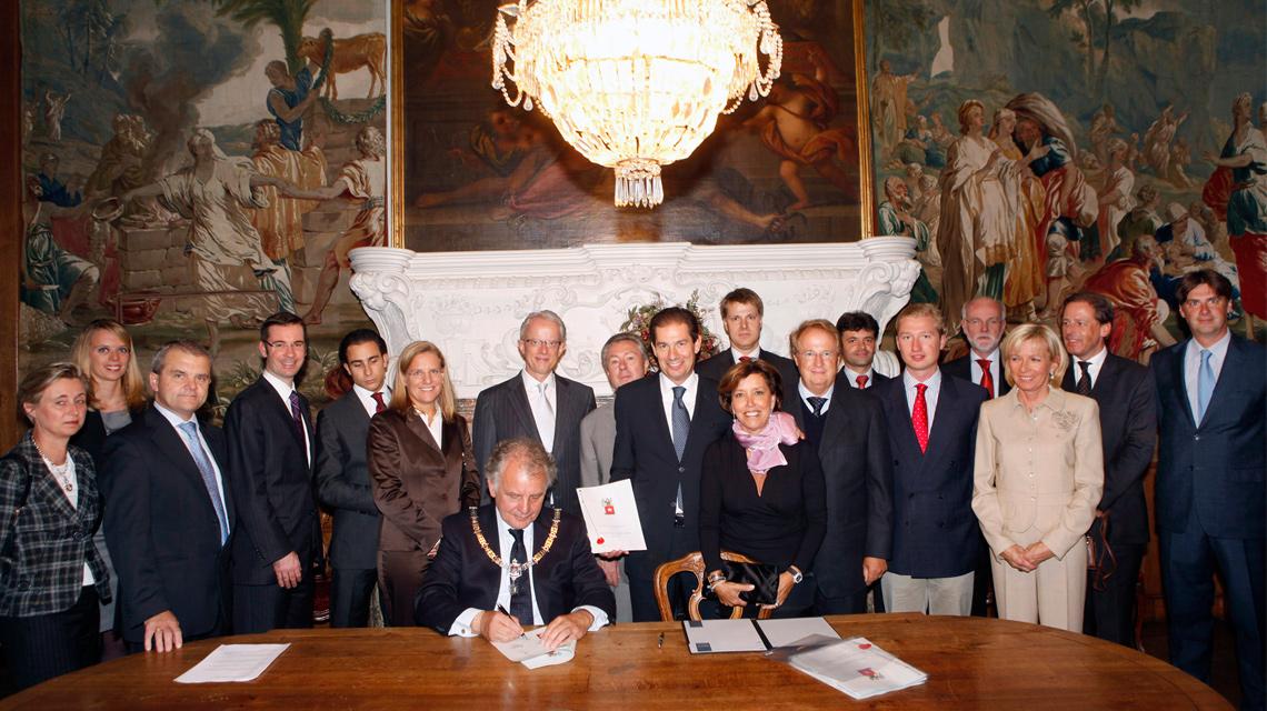 Maastricht Group - Unterzeichnung der Vereinbarung