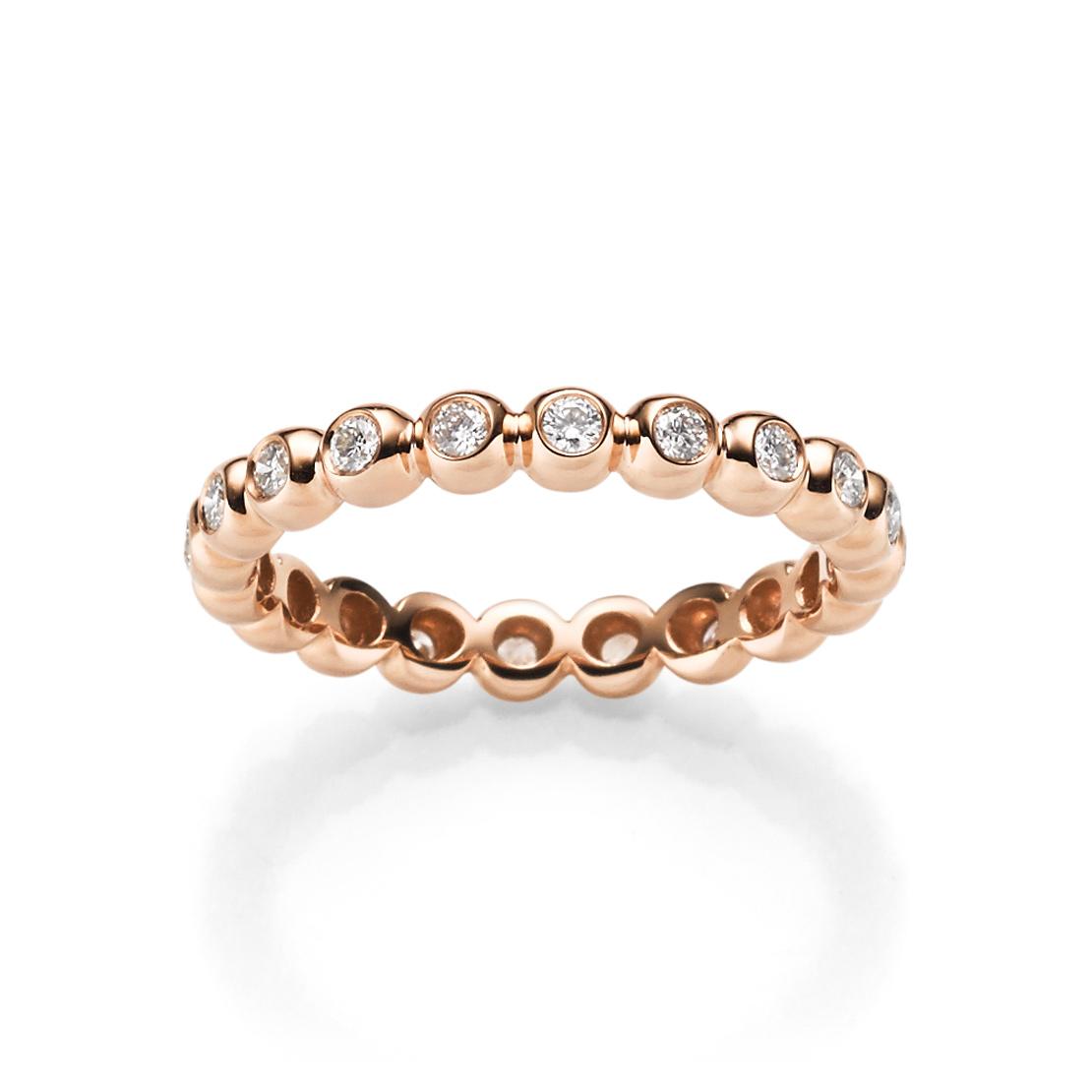 Sparkling Circles Damenring Roségold