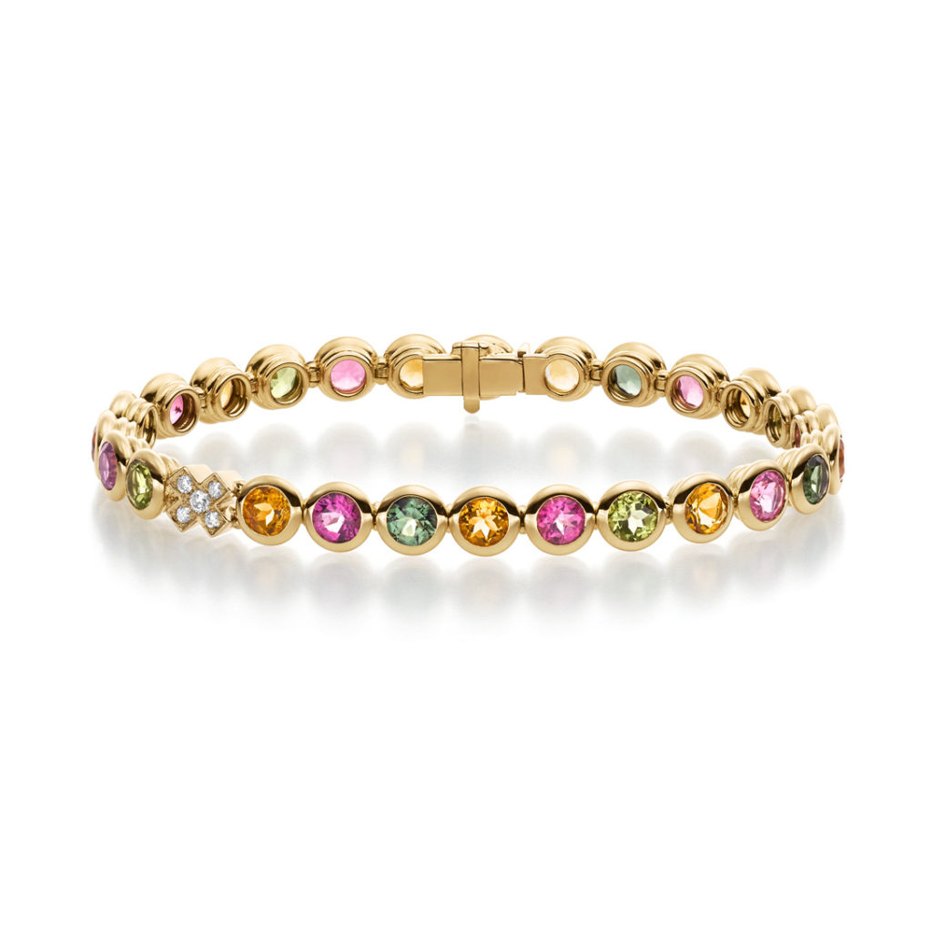 Colour Drops Armband Gelbgold