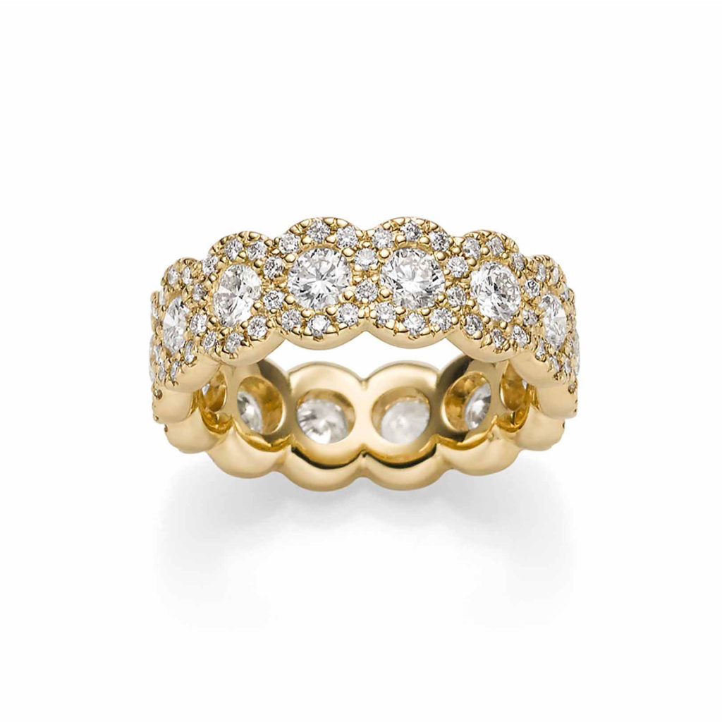 Sparkling Circles Ring Gelbgold